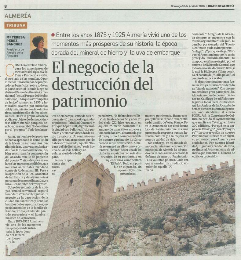 EL NEGOCIO DE LA DESTRUCCIÓN DEL PATRIMONIO
