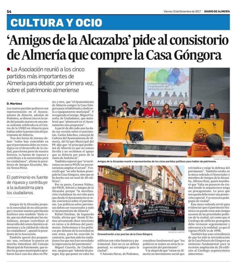 CASA GONGORA DEBATE