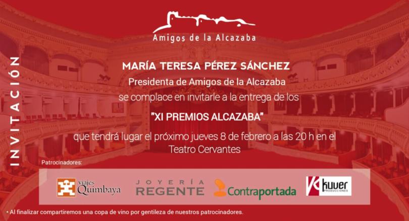 XI PREMIOS ALCAZABA Invitación