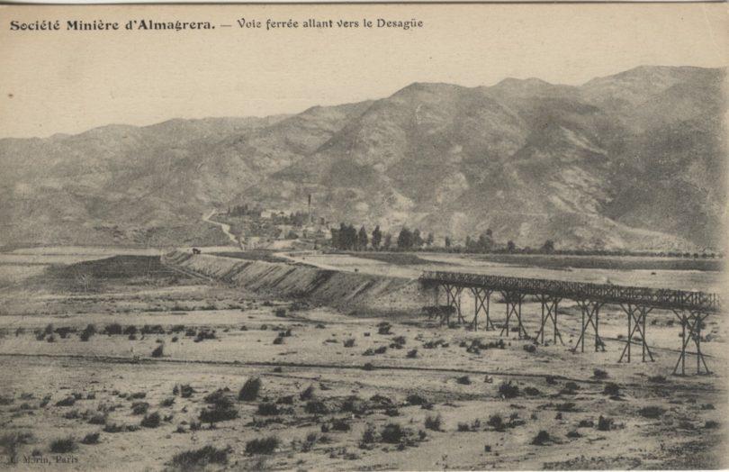 Puente sobre la rambla de Los Lobos del ferrocarril El Arteal-Las Rozas. Col. Enrique Fernández Bolea.