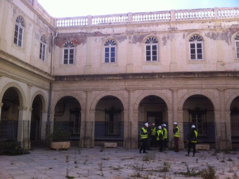El Hospital Provincial hace 3 años durante la visita de Amigos de la Alcazabas